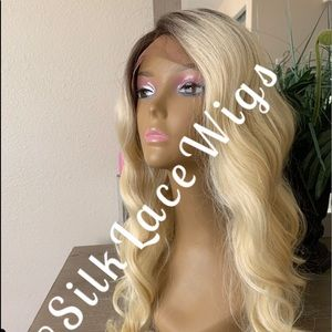 Bleached blonde bombshell Swiss lace front wig